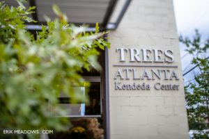 Headquarters entry with Trees Atlanta signage