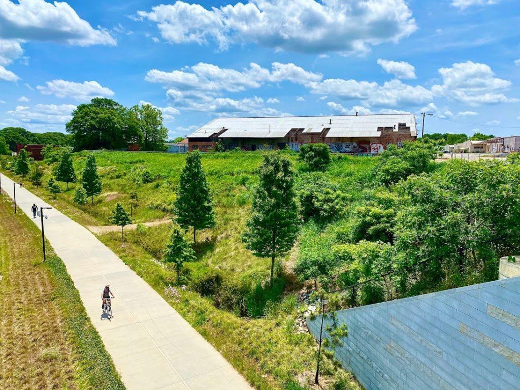 Photo by John Becker. Murphy Crossing facility next to Atlanta BeltLine Westside Trail.