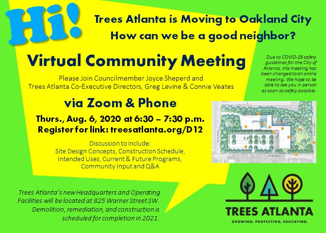Front of Invitation to Community Input Meeting