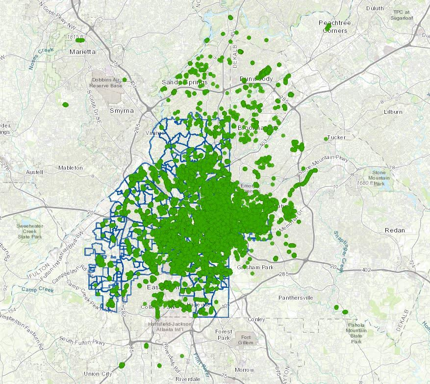 Atlanta canopy cover story map preview