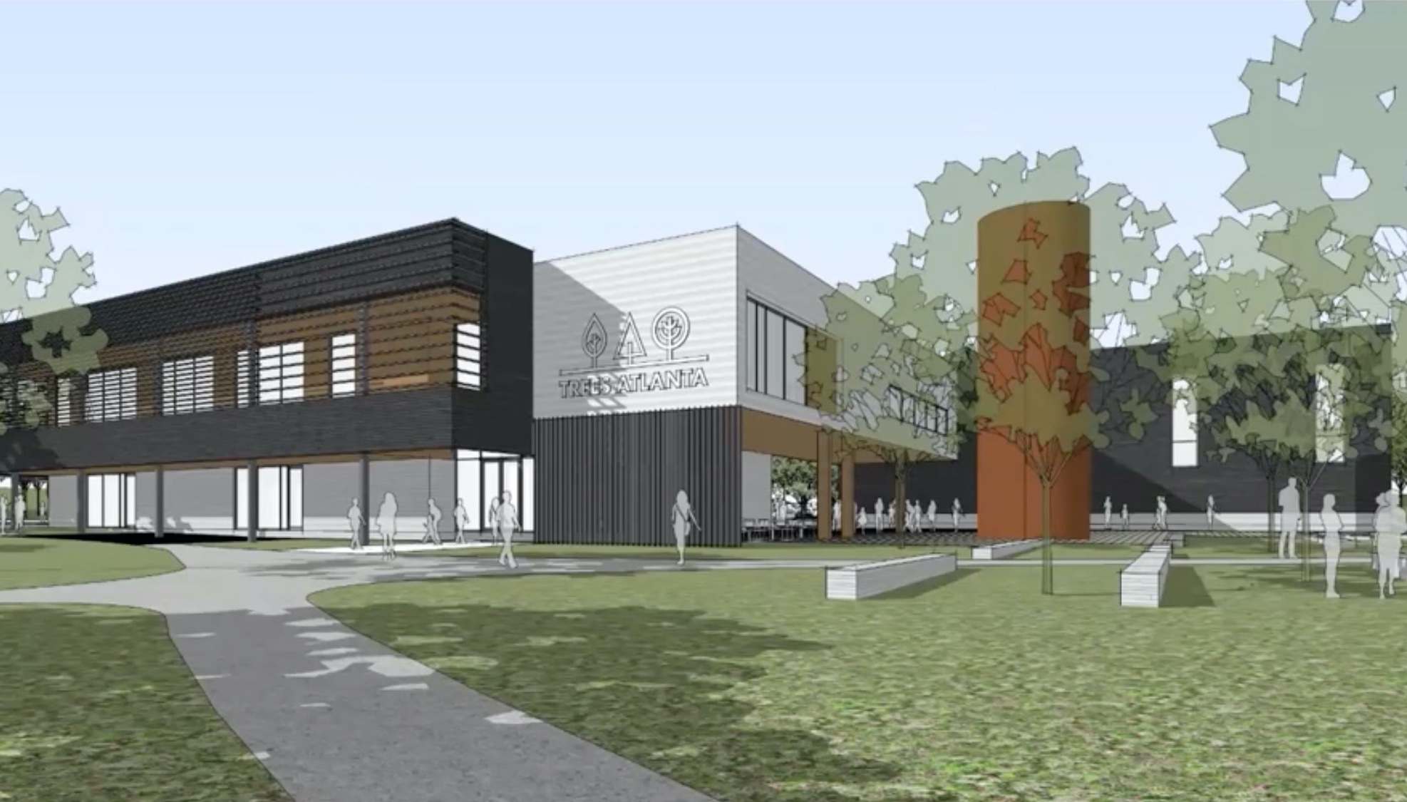 New headquarters digital rendering