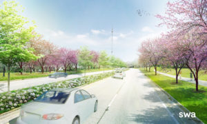 Artist's rendering of future John Lewis Blooming Forest