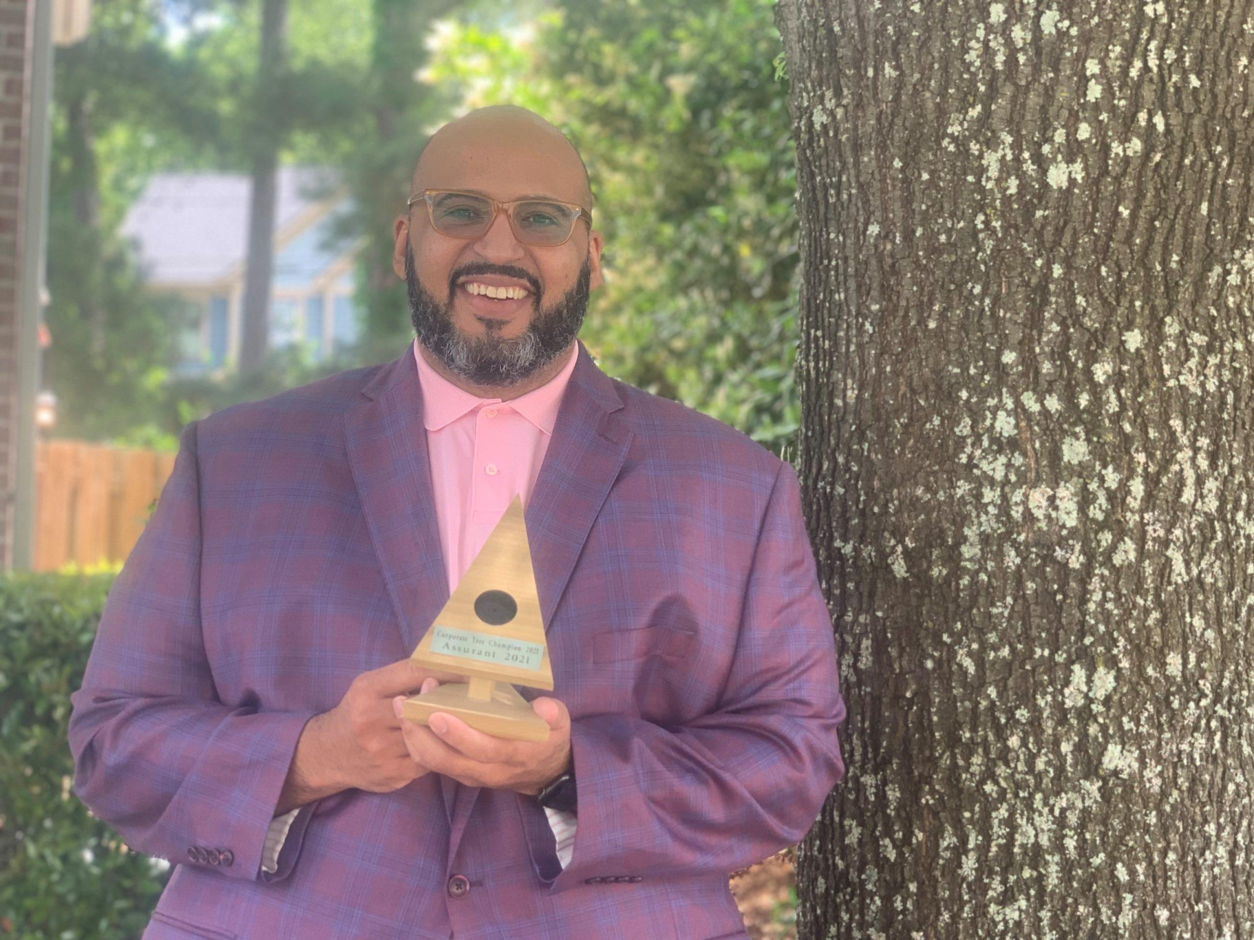 Corporate Winner awarded by Trees Atlanta 2021 Tree Champion at Root Ball